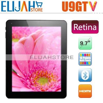 "In stock! Original Cube U9GTV Retina IPS 9.7"" RK3066 Dual Core tablet PC 1g Ram 16g Memory Bluetooth U9GT5 Android 4.1.1(China (Mainland))"