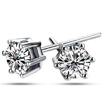 Top Quality ZYE035 Clear Stud Earring 18K White Gold Plated Stud Earrings Jewelry   Austrian Crystal  Wholesale