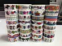 1459 patterns china wholesale tape rice paper japanese masking adhesive triangle rose DIY 50pc/lot free shipping