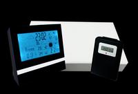 RF Wireless Multifunction Weather station clock calendar with Indoor and Outdoor Temperature Sensor SL-53035P