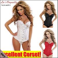 Free Shipping White Black Red Plus Size Sexy Women Wedding Dress Bustier Lingerie Corselet Corset S M L XL XXL 3XL 4XL 5XL 6XL