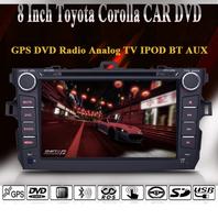 8 Inch Special 2 DIN Car Stereo For 2007-2011 Toyota Corolla / GPS Navi / IPOD / Analog TV / BT / AUX / 1080P / RMVB / AVI