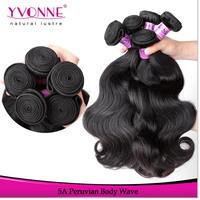 Grade 5A Peruvian Virgin Hair,4Pcs/lot Body Wave Hair Extension,12-28Inches Aliexpress YVONNE Hair,Natural Color 1B