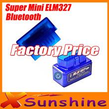 2013 Последние Топ-Saled Супер ELM327 Мини Bluetooth OBD2 диагностики авто сканер инструмент ELM 327 работает на Android Tourque бесплатно(China (Mainland))