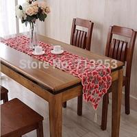 NEW STYLE  Corredor da tabela do bordado 40x220cm azarin embroidery hollow out  to wedding hotel home NO.575-R FREE SHIPPING