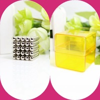 Free shipping factory outlets neocube / 216pcs 3mm magnet balls buckyballs cybercube magcube at metal tin box  nickel color
