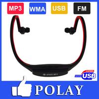 2014 ET Earphone Sport MP3 FM WMA Digital Music Player Wireless Handsfree Headset Support MAX 32GB Micro SD/ TF Card +Retail box