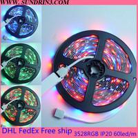 Free ship 5M 300LED 3528 SMD 12V flexible high brightness epistar chip 3 years warranty LED strip RGB/white/warm white/blue/red