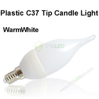10pcs/lot 3w candle bulb, warm white AC220v candle light e14 led bulb 3w, e14 3w led candle lamp free shipping