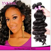 New Fashion Loose Wave Peruvian Hair,Grade 5A Unprocessed Virgin Human Hair Weave,3Pcs/lot,12-28 Inches Aliexpress Yvonne Hair