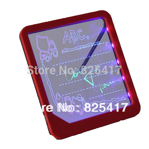 New LED Novelty Message Board Electronic Drawing Board Doodle Magic with Fluorescent Marker Pen WordPad Toys WJ0004(China (Mainland))