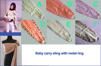 Breathable baby carrier with metal ring and QuickDry fabrics material, design swing slings to new baby sling product