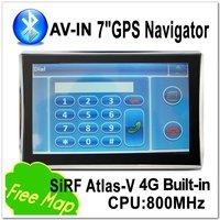 2012 Navitel map Original Edition 7 InchGPS Navigator SiRF Atlas-V Bluetooth&AV-IN 800MHz.28 M 8G Memory Bulit-in GPS DUN