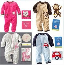 1 pc, Free Shipping, Original Carter's Monkey/ Deer Romper, Kamacar Baby Long Sleeve Jumpsuit, Infant and Toddlers Overalls(China (Mainland))