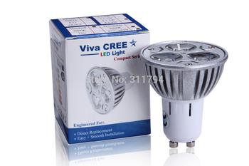 2 pcs/lot ( replace 80W )Viva-CREE led gu10 3X2W 6W ( 50W replace ) 3X3W 9W High power Bulb downlight Spot Lamp