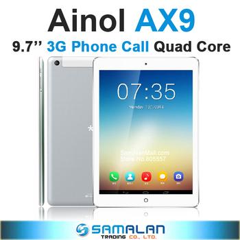 "9.7"" Ainol AX9 3G P97 Phone Call Tablet PC MTK8382 Quad Core 1.3GHz Android 4.2 1GB/8GB Bluetooth GPS WIFI 6000mAh"