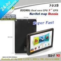 Promotion Preload Navitel 7.5 Russian map 7 inch GPS navigator WIN CE SiRF VI 800MHz 800*480 256M DDR3 build in 8GB Nandflash