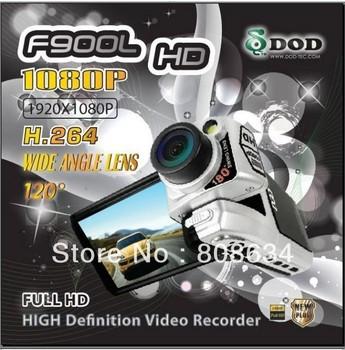 CN Post Freeshiping Original DOD F900LHD Car DVR Camera with Ambarella Full HD 1080P H.264 5 Mega pixels CMOS V3.04 T2M-MF H