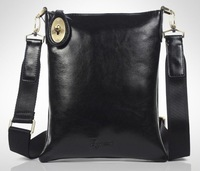 Wholesale&Retail Russia style' fashion genuine leather men' Messenger Bags,leather Ipad Bags+black