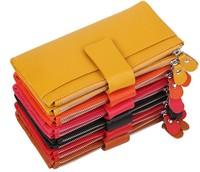100% Genuine Leather women&men's multifunction wallets, purses  fashion wallet BAG JJ8123