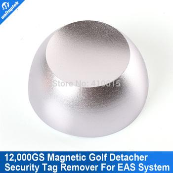 Super Golf Detacher Security Tag Detacher Golf Tag Detacher EAS Tag Remover Magnetic Intensity 12, 000GS Color Silvery