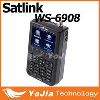 "Original Satlink WS-6908 3.5"" DVB-S FTA digital satellite meter satellite finder ws 6908 satlink ws6908 free shipping post"