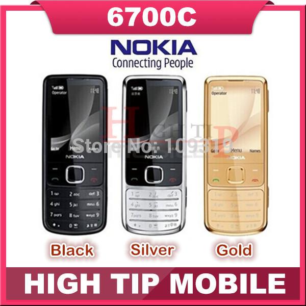 venda quente desbloqueado nokia original 6700c 6700 clássico telefone