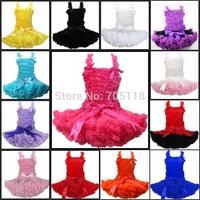 wholesale 13 options FREE SHIPPING 2014 Boutique Pure Color Baby Pettiskirt Set,Chiffon top + skirt,Girls Pettiskirts Tutu Set