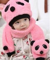 1 Piece Free Shipping Cute Bear Kids Children Infant Newborn Toddler Baby  Girl Hooded Scarf Hats Skullies Beanie Caps