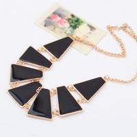 Enamel Green Alloy Geometric Design Gold Chunky Choker Collar Statement Necklaces & Pendants 2014 New Fashion Jewelry Women N44