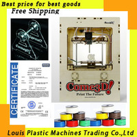 Free shipping 3D Printer single head 2kg ABS material free one filament stand MakerBot Replicator ABS printer machine