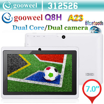 "Big Sale!! Gooweel 7"" Allwinner A23  1.5GHz Q8H Bluetooth Dual core tablet pc android 4.2.2 os RAM 512MB ROM 4GB WiFi Camera OTG"