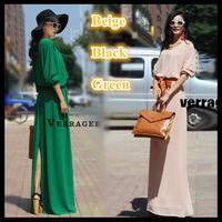Plus size maxi dresses new fashion summer dress 2015 women loose long chiffon floor length one-piece black loose casual dress