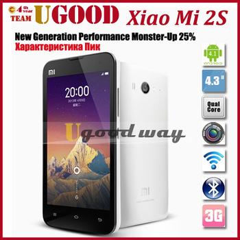 Original Xiaomi Mi2S M2S Snapdragon Quad Core Cell Phones 2GB RAM 32GB ROM 4.3'' IPS 1280*720px Screen 13mp Camera WCDMA 3G