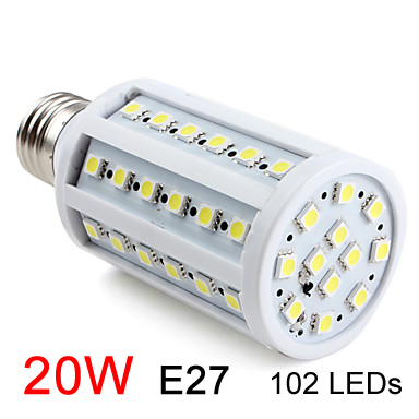 Free shipping high quality ultra bright led corn Bulb Lamp light 110-220V 15W E27 SMD5050 Warm White/White Factory directsale#