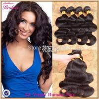 "Malaysian Virgin Hair Body Wave 3pc 4pc 8""-30""Malaysian Body Wave Hair Extension Remy Human Hair Weave Realove Malaysian Hair"