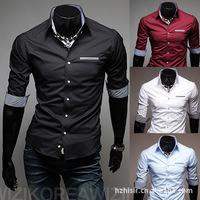 Desigual Camisas Men Blouse shirt Summer Dress Shirt Men's Three Quarter Sleeve Plaid Slim Dress For Man Shirts Blouse XXL C14