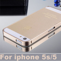 Ultra Thin Aluminum Bumper case for iphone 5 5s 4s 4 Metal Frame cover  phone bags & cases + Free screen  guard