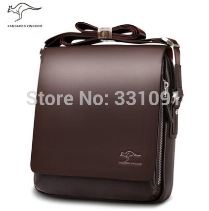 2014 Rushed Zipper Handbags Men Messenger Bags, Big Promotion Genuine Kangaroo Leather Shoulder Bag Man Briefcase, free Shipping(China (Mainland))