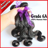 Wholesales Malaysian Body Wave Virgin Hair 4pcs/Lots Grade 6A 100g/pcs 1B Natural Color Human Hair Weft