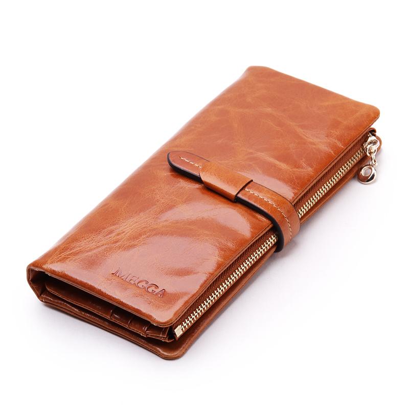 Donne portafoglio lungo leaher autentico portafoglio titolare buona qualità cerniera tasca multi- colore moda frizione ingrosso