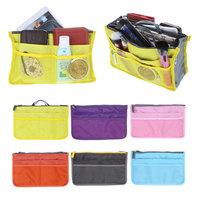 6 Colors Promotions Lady's organizer bag handbag organizer travel bag organizer insert with pockets storage bags
