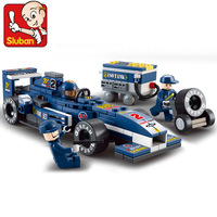 Sluban Building Blocks,F1 Formula Car, 1:32 F1-Blue Lightning,Educational Toys for Boys, B0351, Self-locking Bricks