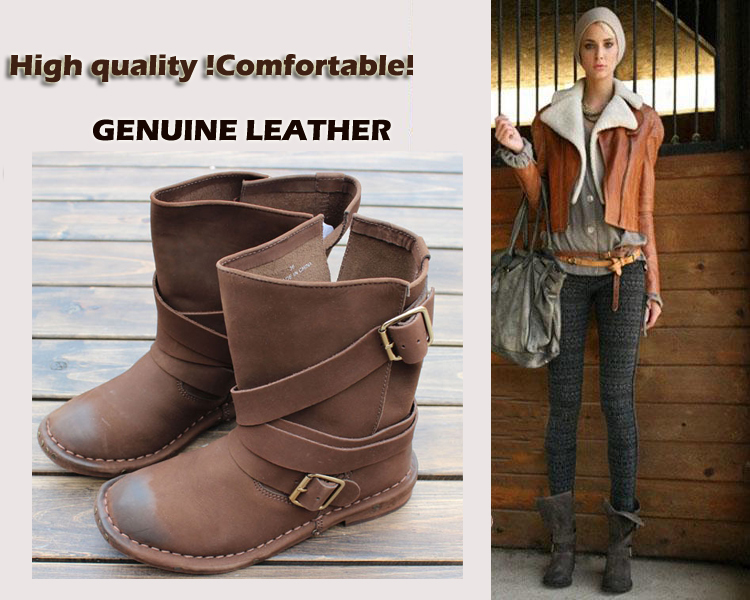 2013 fashion genuine leather boots for 2013 high