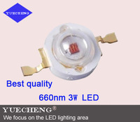 660nm 3W Red high power led light beads with Bridgelux chip free shipping