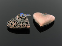Free Shipping tendy charms 24*25mm 5pcs/bag alloy antique bronze heart hollow shaped pendant for necklacebracelet jewelry making