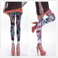 Min Order 5pcs Or Mix $15 Sexy White Blue Charm Chain Elastic Slim  Leggings For Women 029