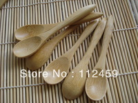 Wooden Spoon Honey Baby Spoon Coffee scoop/meal spoon100pcs/lot 10*2cm Factory direct selling