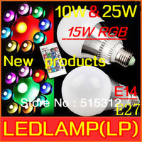 Free shipping discount 85-245V RGB LED Lamp Innovative items 10W 15W 25W E14 E27 led Bulb Lamp with Remote Control led lighting
