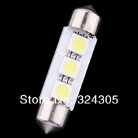 100pcs 36mm 5050  3 SMD Car Auto 12V Interior  LED Licence Plate Dome Roof  Light Festoon Dome Lamp Bulb white red blue